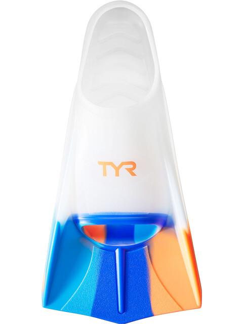 TYR Stryker Silicone Fins L Orange/Blue/Clear